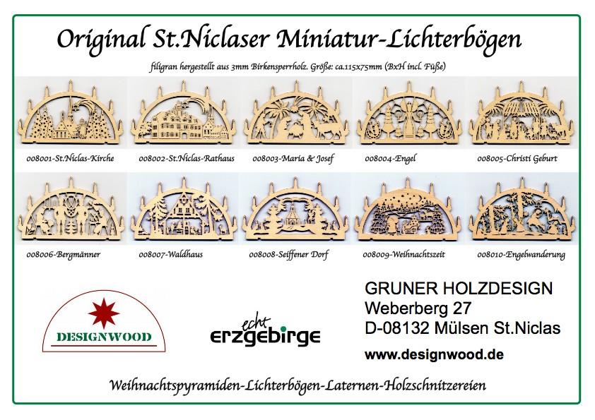 Mini Schwibbogen Miniatur Schwibb 246 Gen Miniatur Lichterbogen